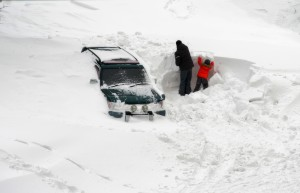 image - car buried in snow