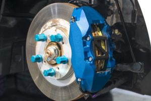 image - disc brakes. assembly on a modern automobile