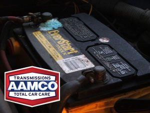 image of brand new car battery.