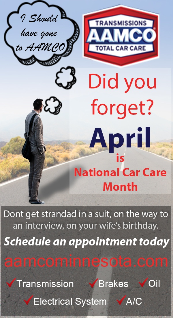 April Is National Car Care Month Aamco Minnesota