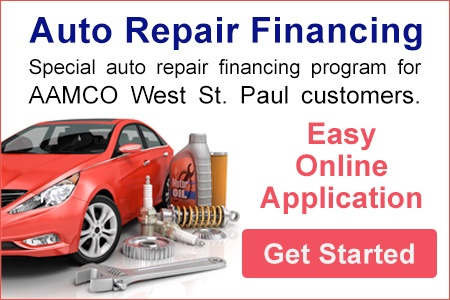 image banner AAMCO West St. Paul, Minnesota Auto Repair Financing Program