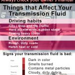 image of infographic about how often to change transmission fluid