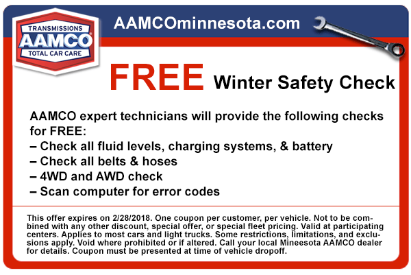 image - coupon for free winter vehicle safety check.