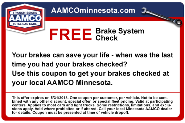 image - coupon free brake check