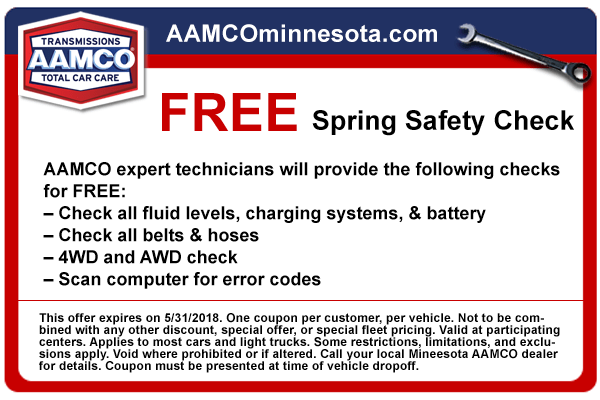 coupon free spring safety check