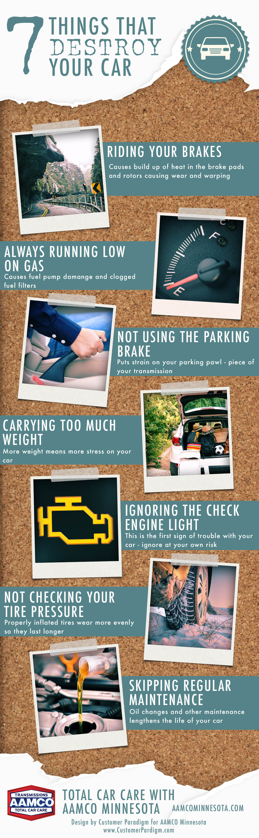 7 things that destroy your car infographic